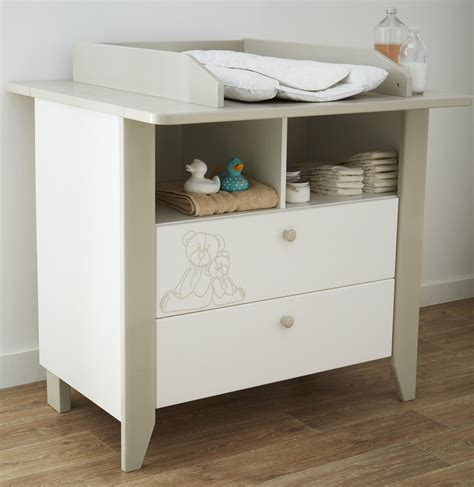 cora table a langer commode 224 langer contemporaine blanche marron clair ted chambre bebe chambre