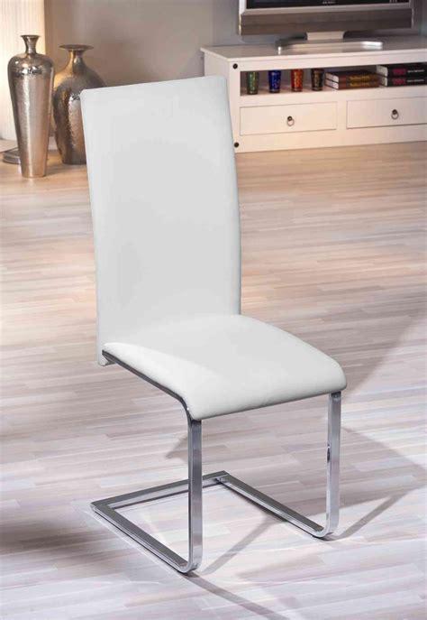 chaises design salle à manger chaises de salle à manger design coloris blanc lot de 2