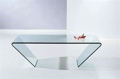 519 Clear Glass Modern Coffee Table w/Triangle Shape Design