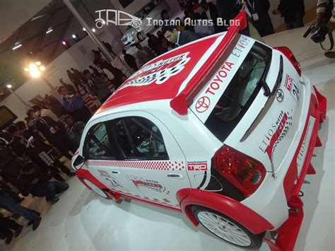 toyota motors india toyota showcases etios racing cars