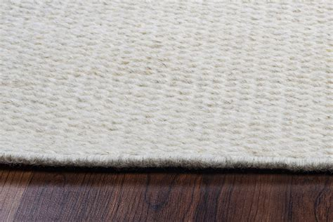 white woven rug twist textured woven pattern wool area rug in solid