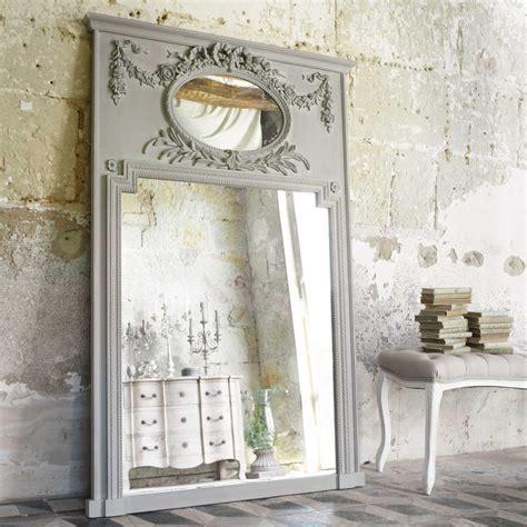 miroir trumeau en bois gris   cm mirano maisons du monde