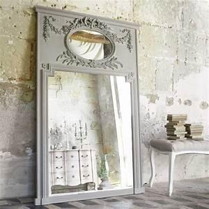 Miroir Trumeau En Bois Gris H 160 Cm MIRANO Maisons Du Monde