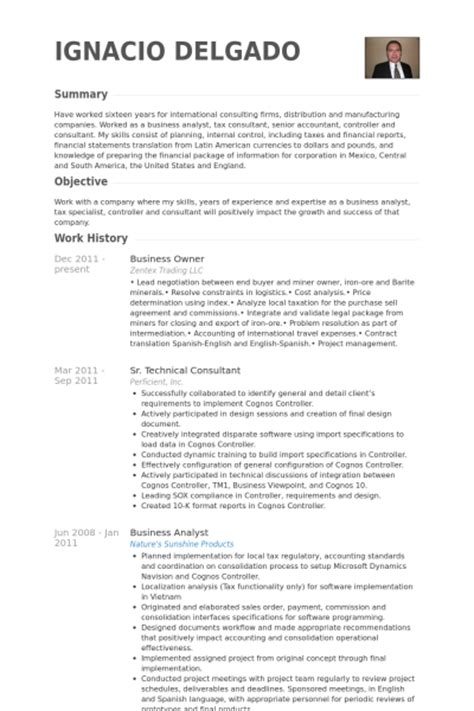 business owner resume sles visualcv resume sles
