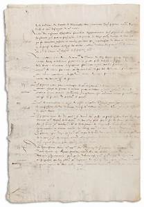 lot detail king charles ix of france 1567 document With documents by charles