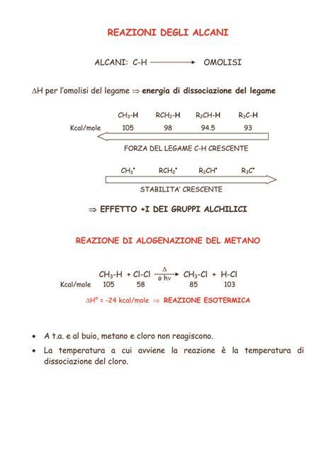 chimica organica dispense alogenazione radicalica dispense