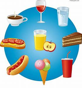 4-Designer | Vector material of cartoon snacks and drinks