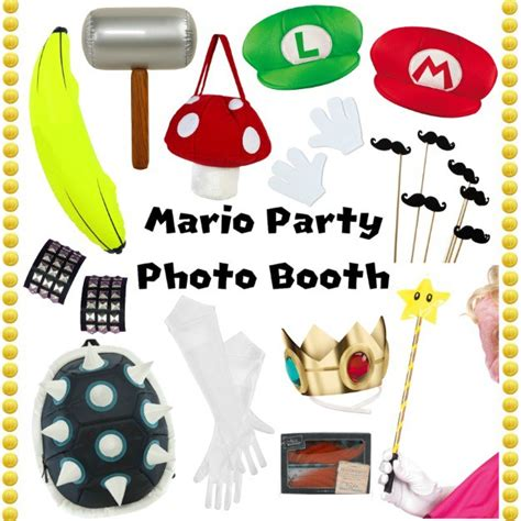 photo booth accessories how to throw a mario party party costumes