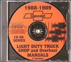 1989 Chevy Ck Pickup Shop Manual Chevrolet Truck Cheyenne
