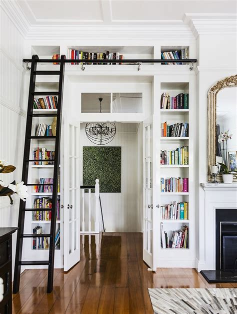 collection  bookcases  ladder  rail