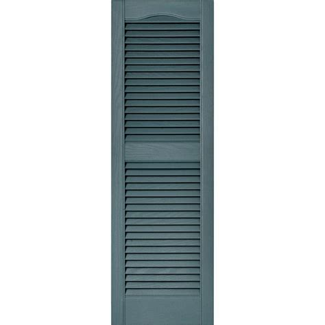 builders edge 15 in x 48 in louvered vinyl exterior