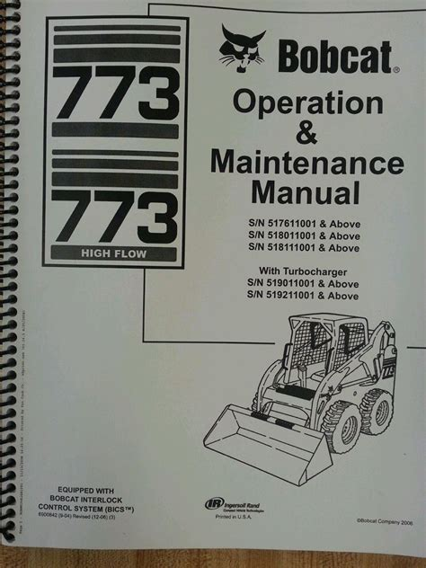 bobcat  skid steer loader operators operation maintenance manual  finney equipment