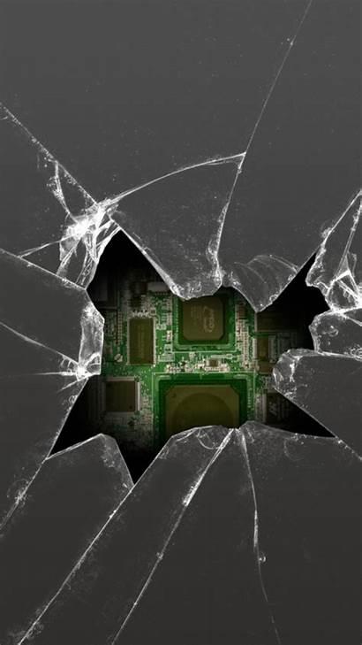 Broken Screen Cracked Mobile Wallpapers Phone Iphone