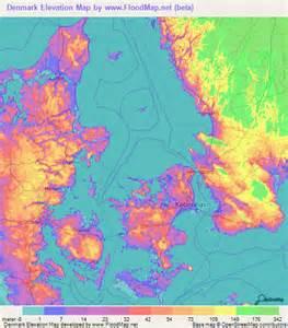 Denmark Elevation Map