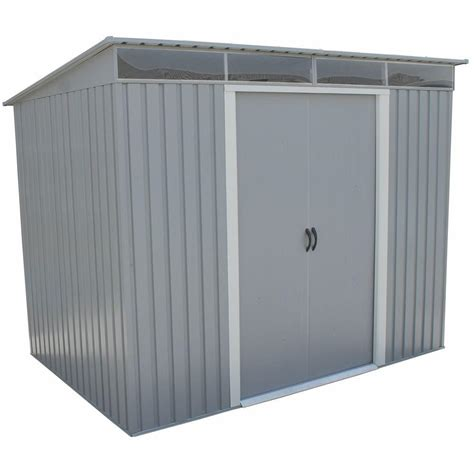 Arrow Newburgh 8x6 Storage Shed by Arrow Newport 8 Ft X 6 Ft Steel Shed Np8667 The Home Depot