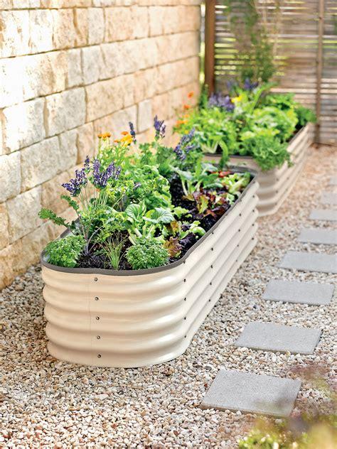 Elevated Garden by Modular Raised Bed Aluzinc Steel Gardener S Supply