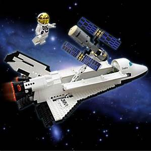 Space Shuttle Satellite Astronaut Assembly Blocks Toy ...