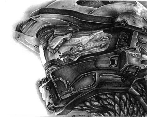 Halo 4 Master Chief Helmet Charcoal By Sicklysweetomega On