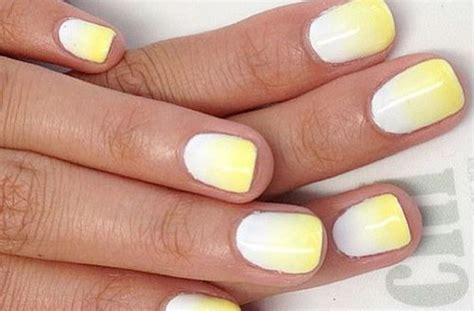 yellow  white nail art design ideas