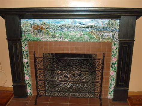"""English Cottage"" Mosaic Fireplace Surround   Designer"