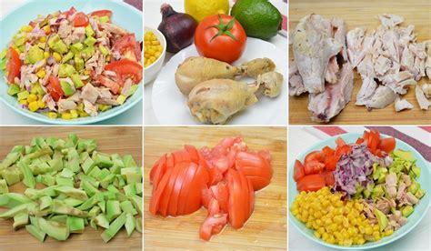 Salāti ar vistas gaļu, avokado un kukurūzu - Laiki mainās!