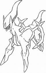 Coloring Arceus Pokemon Pages Azcoloring Az Sketch Credit Larger sketch template