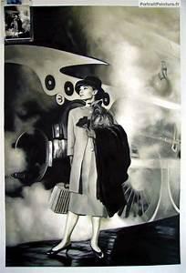 Peinture En Noir Et Blanc : peinture noir et blanc portrait noir et blanc portrait peinture peinture a l 39 huile a ~ Melissatoandfro.com Idées de Décoration