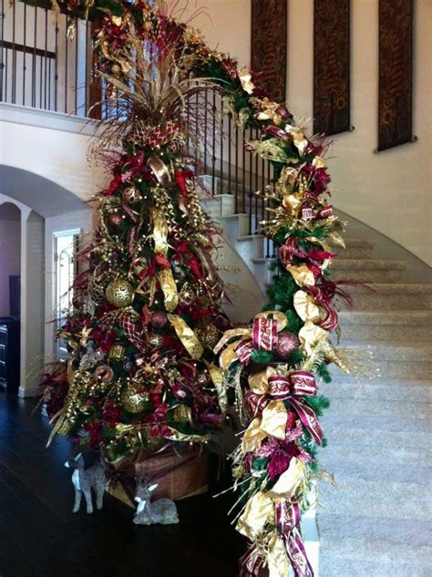 magical christmas staircase decorations