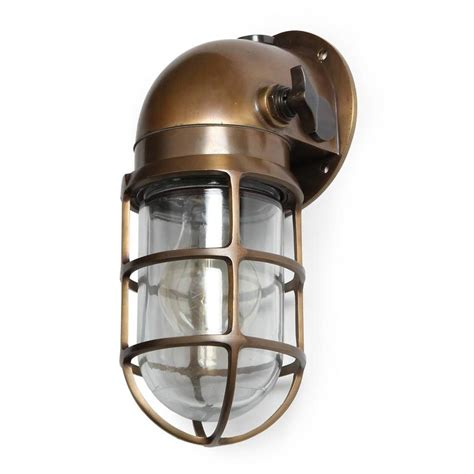 industrial bronze caged sconce by and stoll co for sale at 1stdibs