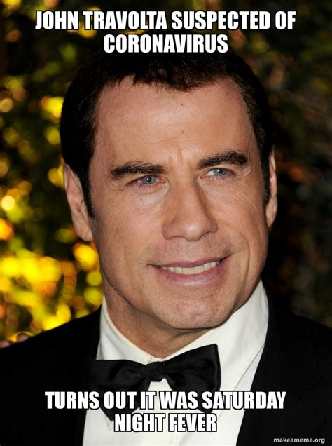 Travolta started acting appearing in a local. john-travolta-suspected - Thinking Meme