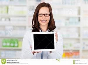 Digital Tablet Computer In Pharmacy Stock Image - Image of ...