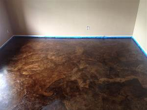 Diy paper bag floors that look like stained concrete for Brown paper bag floor on concrete