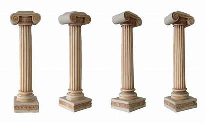 Pillar Column Greece Ancient Clipart Greek Columns