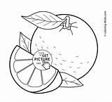 Coloring Orange Pages Fruits Printable Basket Vegetable Fruit 4kids Papaya Sheets Tree Colouring Getcolorings раскраски Draw Getdrawings Learn Depuis Enregistree sketch template
