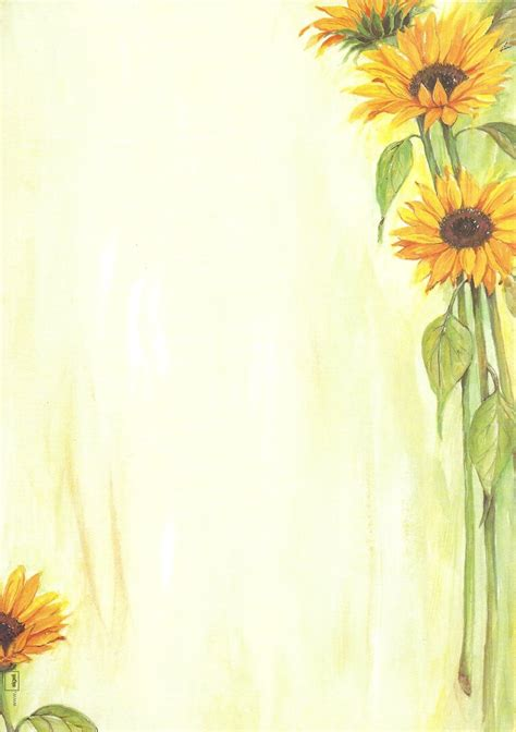 briefpapier sonnenblumen sigel doreens briefpapierwelt