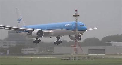 777 Gifs Wind Klm Boeing Strom Landing