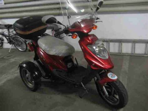 3 rad roller gebraucht 3 rad motorroller pgo big max 50r 50ccm rot bestes