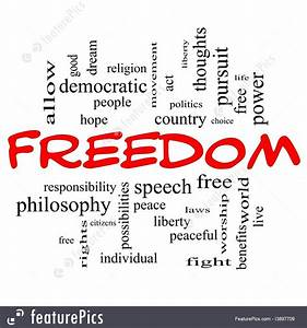 Freedom Words Stock Illustration I3897709 at FeaturePics