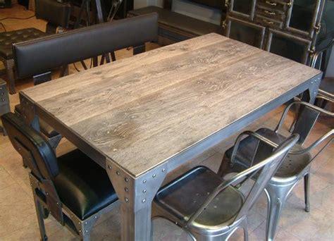 table cuisine industrielle table style industriel avec rallonges maison design