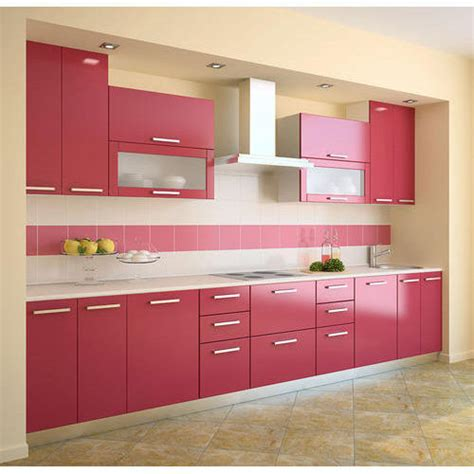 red color modular kitchen  rs  running feet