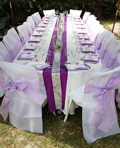 d 233 coration de mariage de val 233 rie et pascal blanc et violet