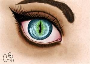 Human Cat Eye by n1honeybee on DeviantArt