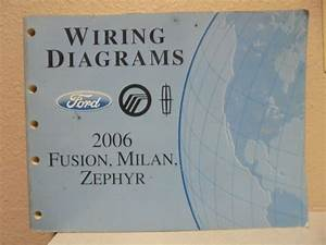 Ford Fusion Lincoln Mkz Hybrid Wiring Diagram Shop Service Manual Oem Ewd