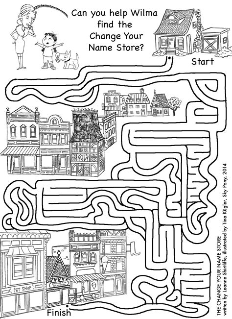 Activity Worksheets And Printables  The Change Your Name Store