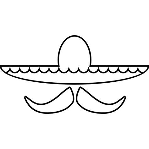 sombrero mexicano y el bigote ios s 237 mbolo interfaz 7 descargar iconos gratis