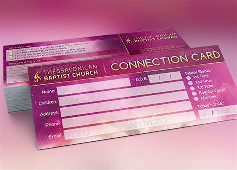 church connection card template connection card template for churches inspiks market