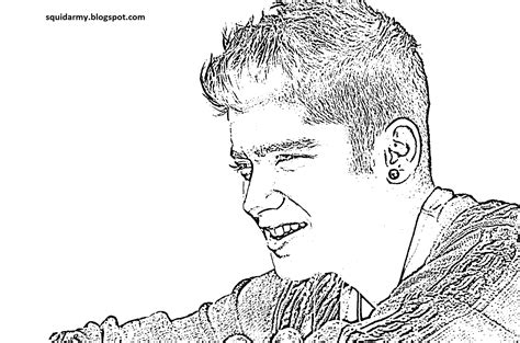 One Direction Coloring Page Malik