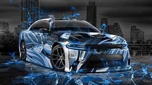 Dodge Charger RT Muscle Anime Girl Aerography City Car