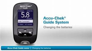 Accu-chek Guide   Changing The Batteries