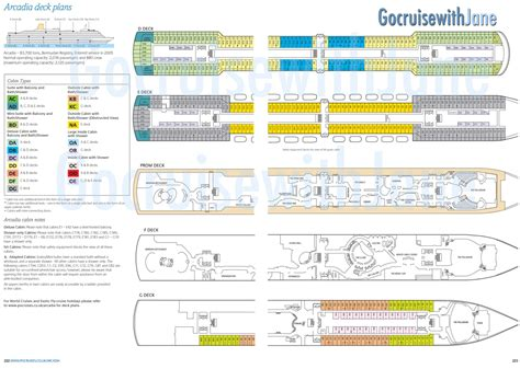 Pu0026O Cruises 2012/2013 Deck Plans
